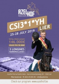 Program CSI3*1*YH LIER 25-28 July Prizemoney 150.000€ !